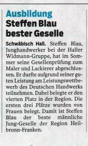 Steffen Blau Widmann Gruppe Schwäbisch Hall